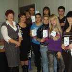 Вручение волонтерских книжек.